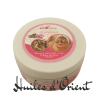 masque ghassoul à la rose